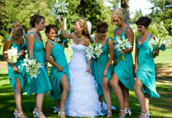 vestido damas mismo color