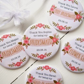 chapas personalizadas regalo damas de honor